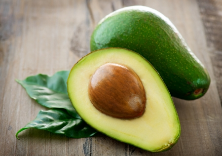 halved  half: Avocado Stock Photo
