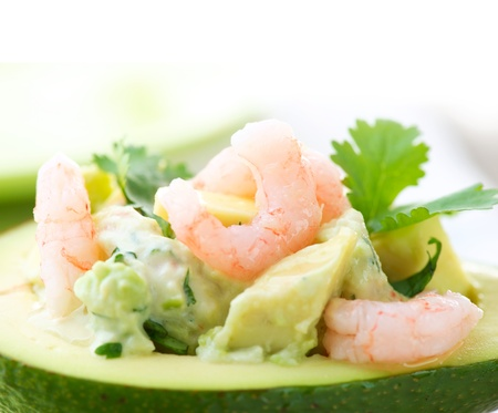Avocado and Shrimps Salad  Appetizer  Stock Photo - 14421980