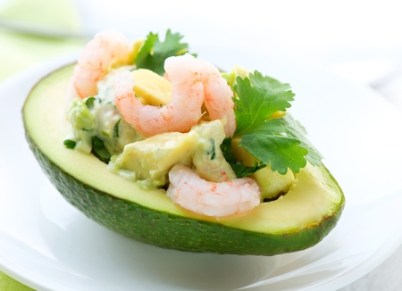 mexican food: Avocado and Shrimps Salad  Appetizer