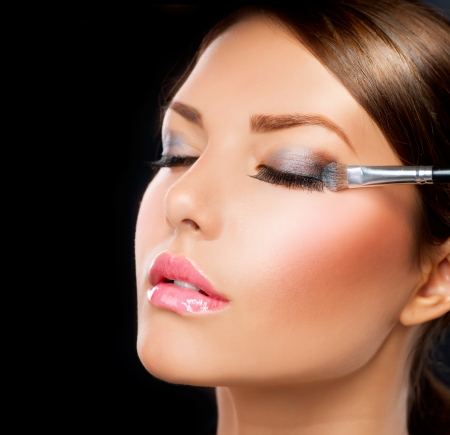 Make-up applying  Eye shadow brush  photo