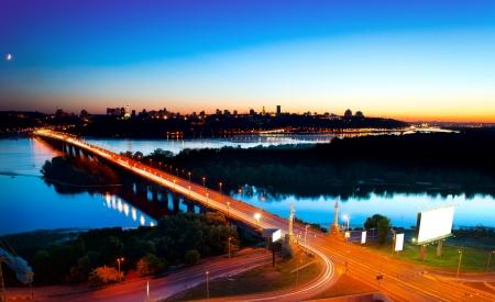 Kiew Stadt - die Hauptstadt der Ukraine Night View