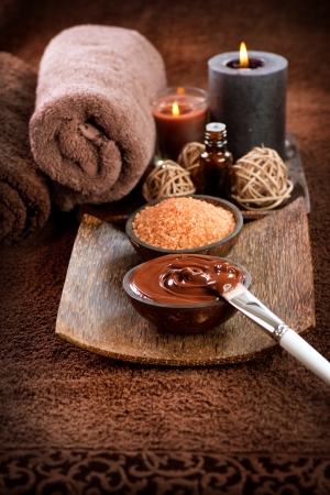spa treatment: Chocolate Spa Mask  Stock Photo