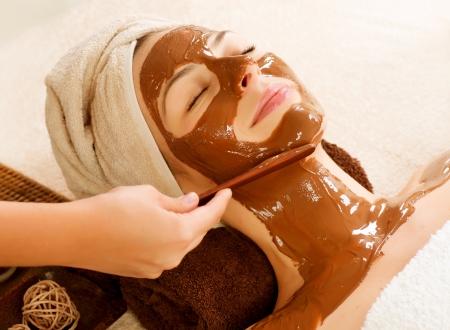 Chocolate Mask Facial Spa  Beauty Spa Salon Stock Photo - 14873618