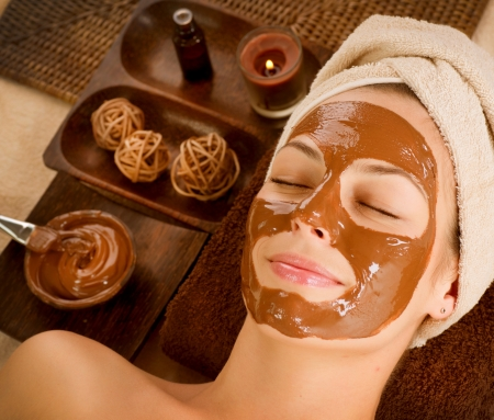 mascarilla facial: Mascarilla de Chocolate Spa Facial Beauty Spa Salon