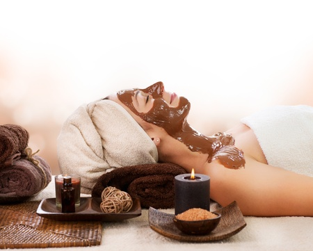 Chocolate Spa Mask Stock Photo - 14873622