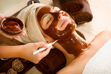 Chocolate Mask Facial Spa  Beauty Spa Salon  Stock Photo - 14873627