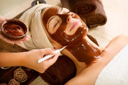 masajes faciales: Mascarilla de Chocolate Spa Facial Beauty Spa Salon