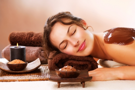 Spa Chocolate Mask  Luxury Spa Treatment  Stock Photo - 15044026