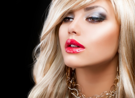 highlights: Blond Fashion Woman Portrait  Blonde Hair
