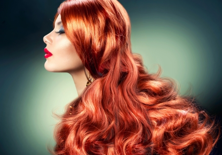 Fashion Red Haired Girl Portrait  photo