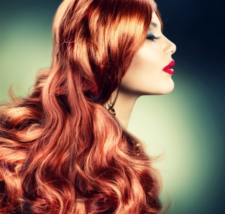 Fashion Red Haired Girl Portrait Stock Photo - 15512915