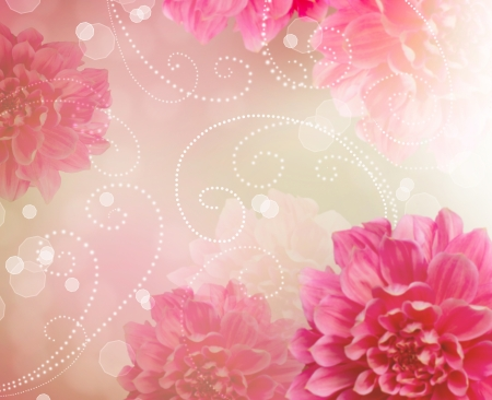 Flowers Abstract Design Art Background  Floral Wallpaper  photo
