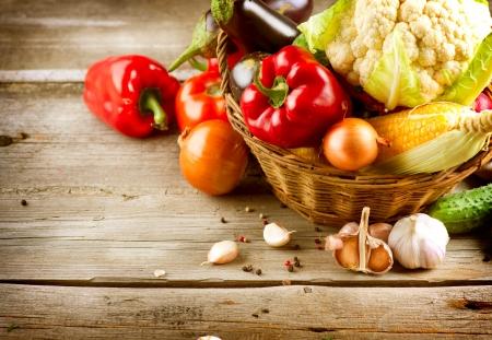 Healthy Organic Vegetables  Bio Food Stock Photo - 15426997