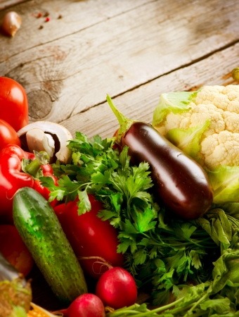 Healthy Organic Vegetables  Bio Food Stock Photo - 15426990
