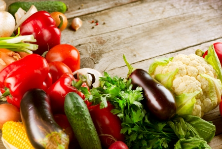 健康的な有機野菜バイオ食品 写真素材