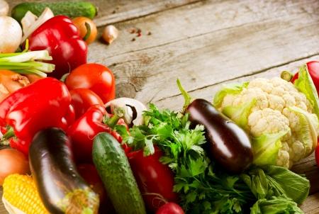 Healthy verduras orgánicas Bioalimentos Foto de archivo - 15426991