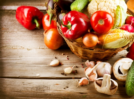 Healthy Organic Vegetables  Bio Food  Stock Photo - 15426993