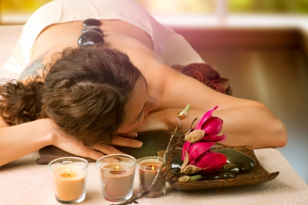 Spa Salon  Stone Massage  Dayspa  Stock Photo - 15658070