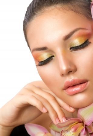 Beautiful Woman Face  Perfect Makeup Stock Photo - 15772671