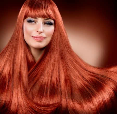 Healthy Straight Red Hair  Extension Stock Photo - 15892345