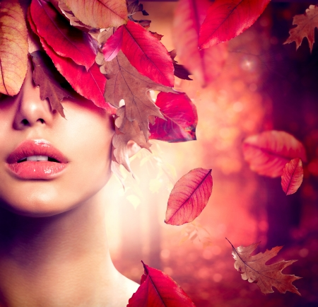 Autumn Woman Fashion Portrait  Fall  photo
