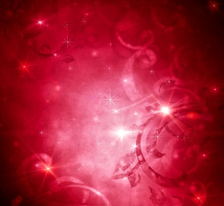 blink: Christmas Holiday Red Vintage Abstract Background  Stock Photo