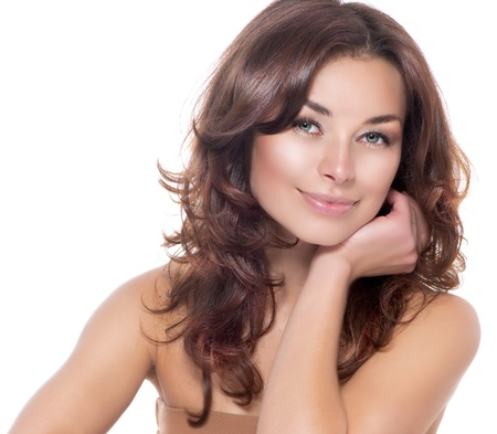 schöne frauen: Beauty Portrait Klare frische Haut Skincare
