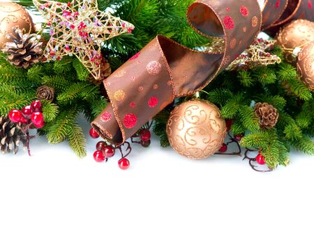Christmas Decoration  Holiday Decorations Isolated on White  Stock Photo - 16311435