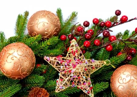 Christmas Decoration  Holiday Decorations Isolated on White Stock Photo - 16311038