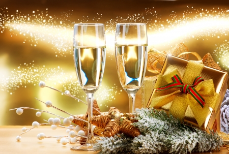 christmas champagne: New Year and Christmas Celebration