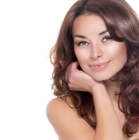 tratamiento facial: Retrato de belleza Cuidado de la Piel Piel clara fresca