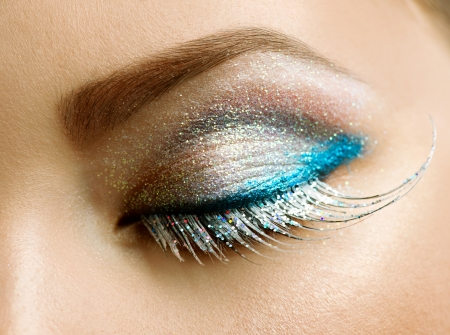Beautiful Eyes Holiday Make-up  Stock Photo - 16590134