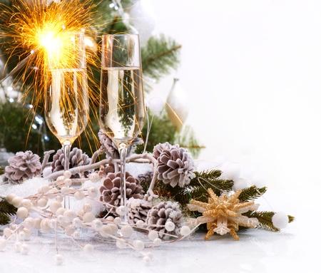 nowy: Świętowanie Bożego Narodzenia z Szampanii
