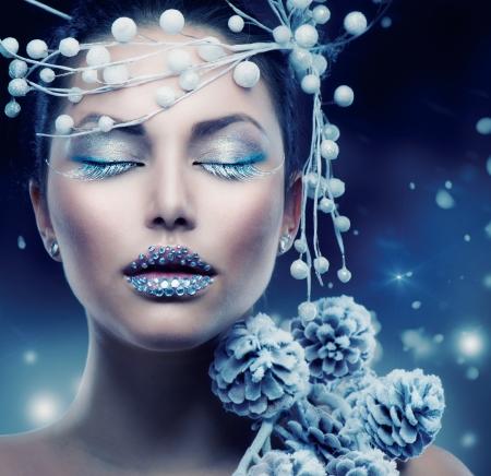 in winter: Bellezza Donna Inverno Natale Girl Makeup