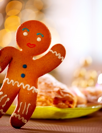 Gingerbread Man  Christmas Holiday Food  photo