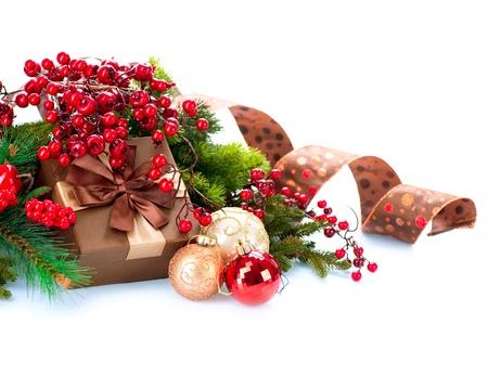 cajas navide�as: Navidad Foto de archivo