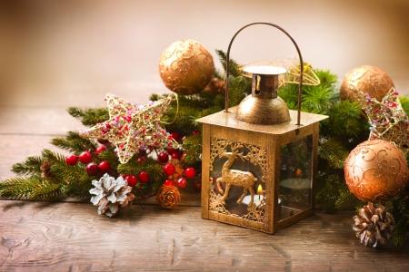 christmas berries: Natale scena di vacanza Greeting Card design