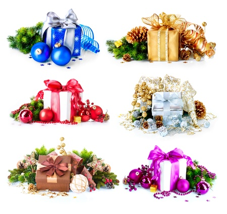 Christmas Gift Boxes and Decorations Set  photo