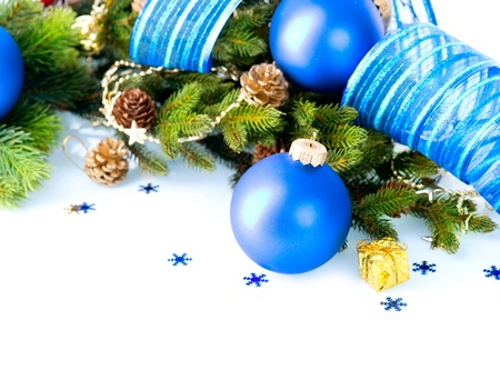 Christmas and New Year Baubles And Decoration border art Design  Stock Photo