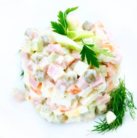 ensalada rusa: Ensalada Olivier tradicional ensalada rusa