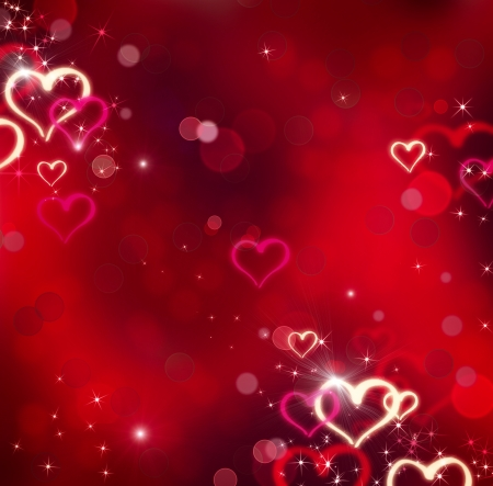 st valentines day: Valentine Hearts  Abstract Red Background