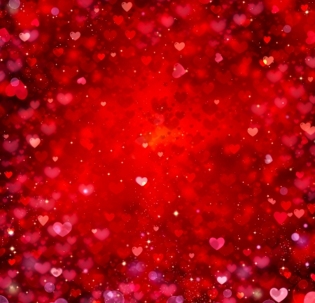 pretty s shiny: Valentine Hearts Abstract Red Background