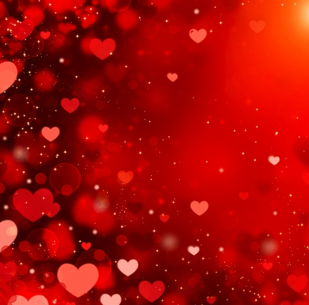 love wallpaper: Corazones de San Valent�n abstracto Fondo Rojo
