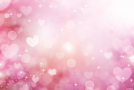 valentine's: Valentine Hearts Abstract Pink Background