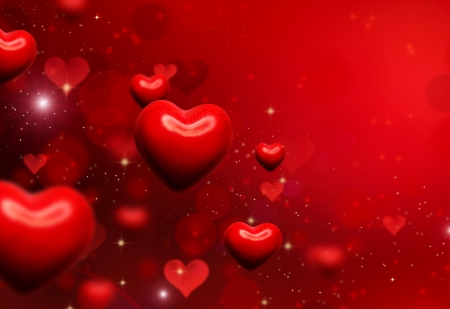 st  valentines day: Valentine Hearts Background  Valentines Red Abstract Wallpaper
