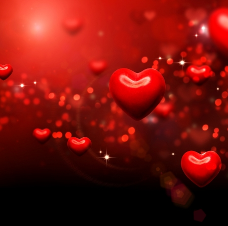 Valentine Hearts Background  Valentines Red Abstract Wallpaper Stock Photo - 17508986