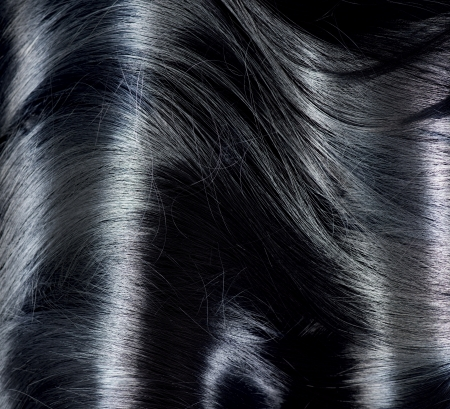 white hair: Black Hair Background  Long Dark Hair Texture  Stock Photo