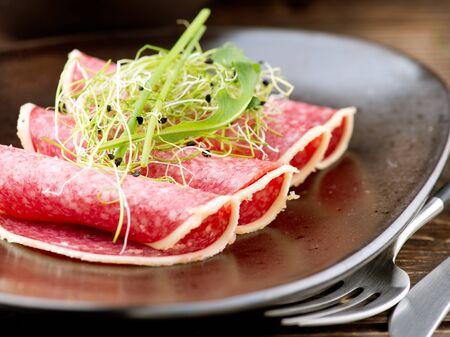 Sausage  Salami  Meat Food Stock Photo - 17603175