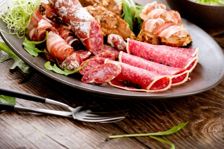 Sausage  Various Italian Ham, Salami and Bacon  Stock Photo - 17603186