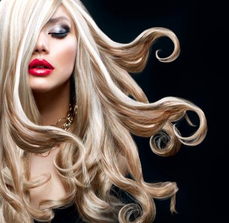 금발 머리 아름다운 섹시한 금발 소녀
